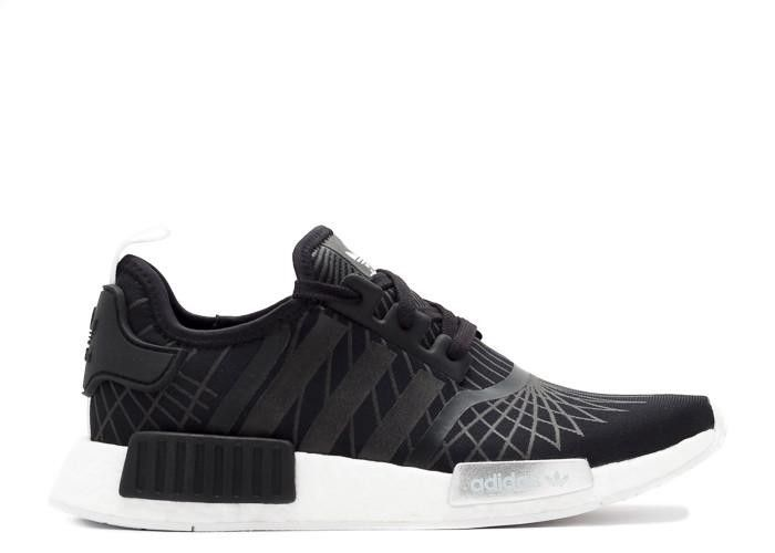 a149b253c8a96 NMD R1 W Black White Silver Sneakers