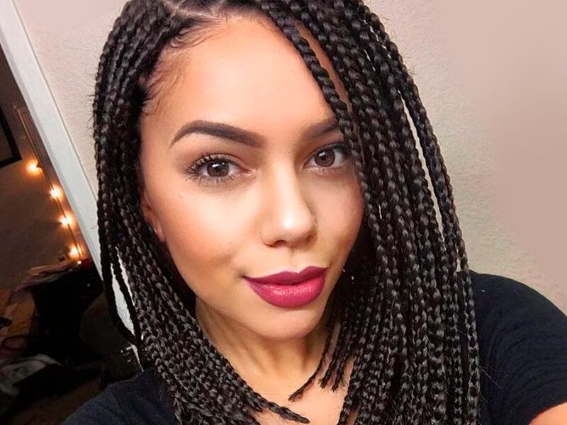 Braid Hairstyles For Black Women 30 Cool Braid Hairstyles Single Braids Hairstyles Box Braids Hairstyles