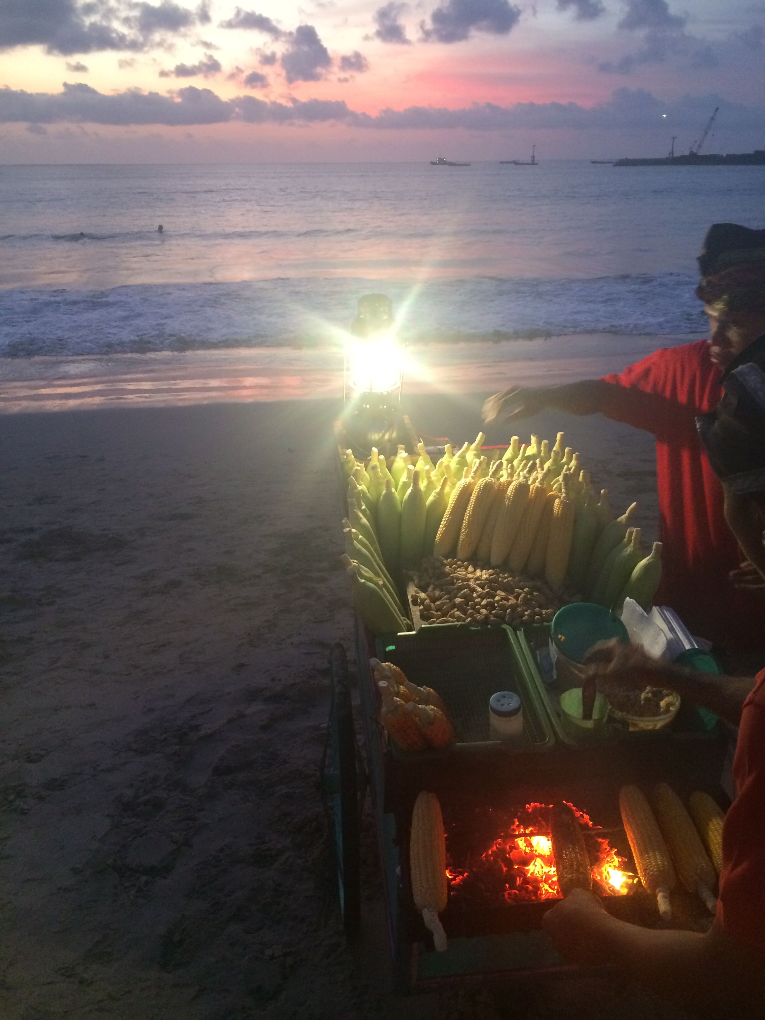 BBQ corn in Bali