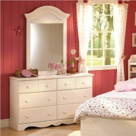 South Shore Summer Breeze Double Dresser And Mirror Set In White Wash For  Only $318.88 You Save: $131.11 (29%)