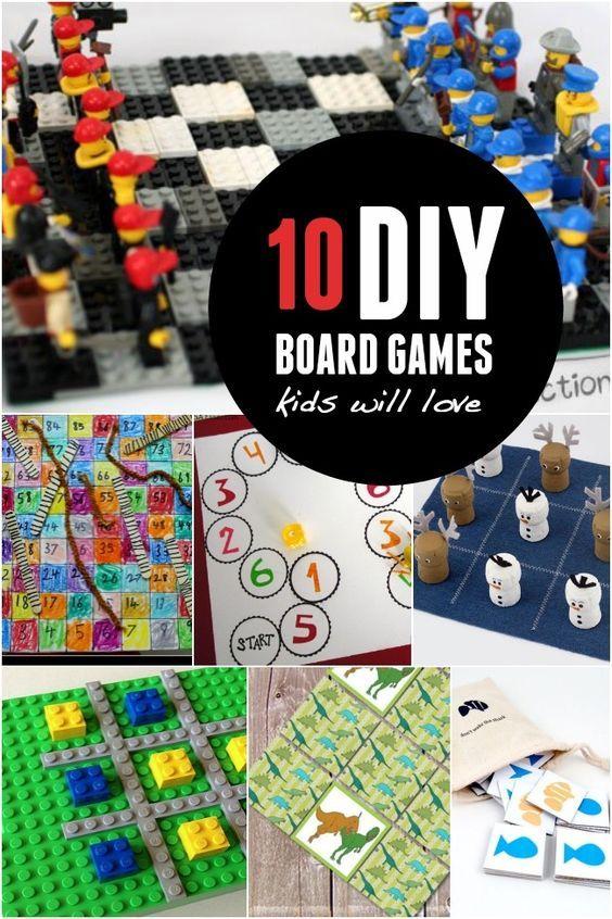 10 diy board games kids will love  homemade board games