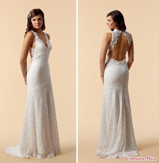 Свадебное платье спицами со схемой