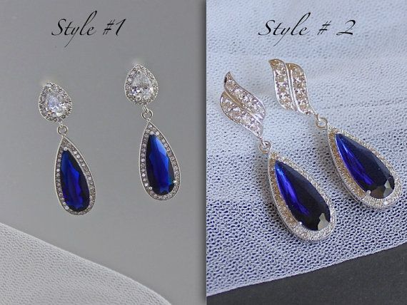 Hey, I found this really awesome Etsy listing at https://www.etsy.com/ca/listing/204462186/sapphire-blue-earrings-bridal-earrings