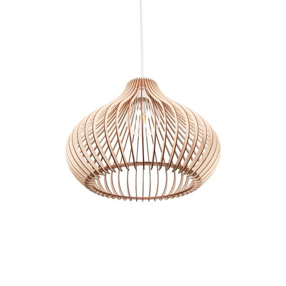 Wood Lamp / Wooden Lamp Shade / Hanging Lamp / Pendant Light / Decorative Ceiling Lamp / Modern Lamp #pendantlighting