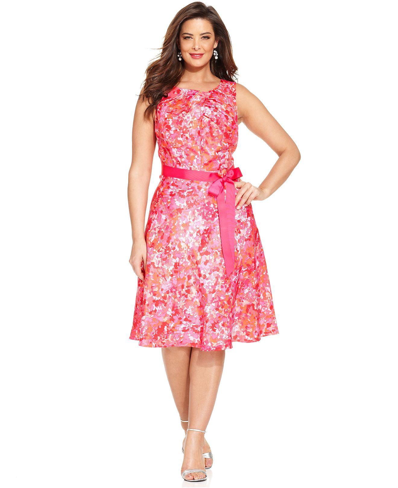 Rm Richards Plus Size Floral Print Dress And Jacket Plus Size
