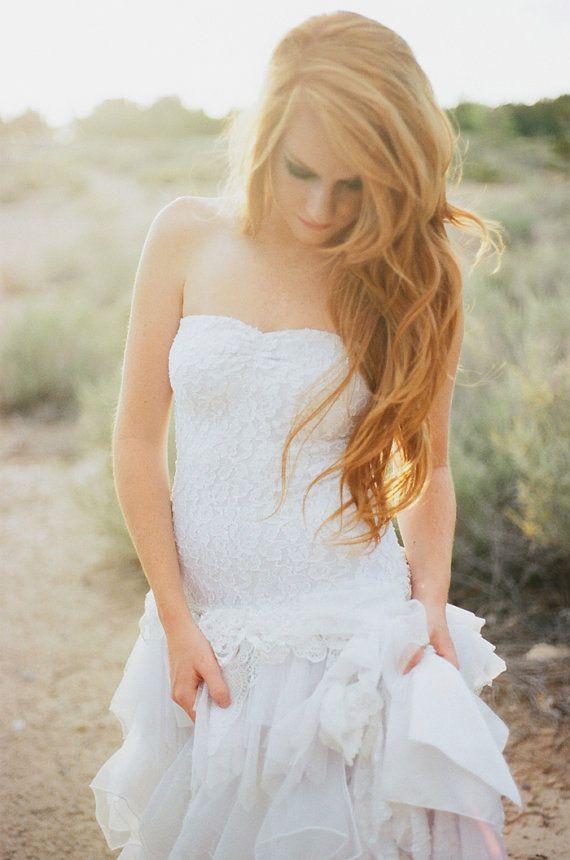 Tea Length Wedding Dress, Rehersal Dinner Dress, Reception Dress ...