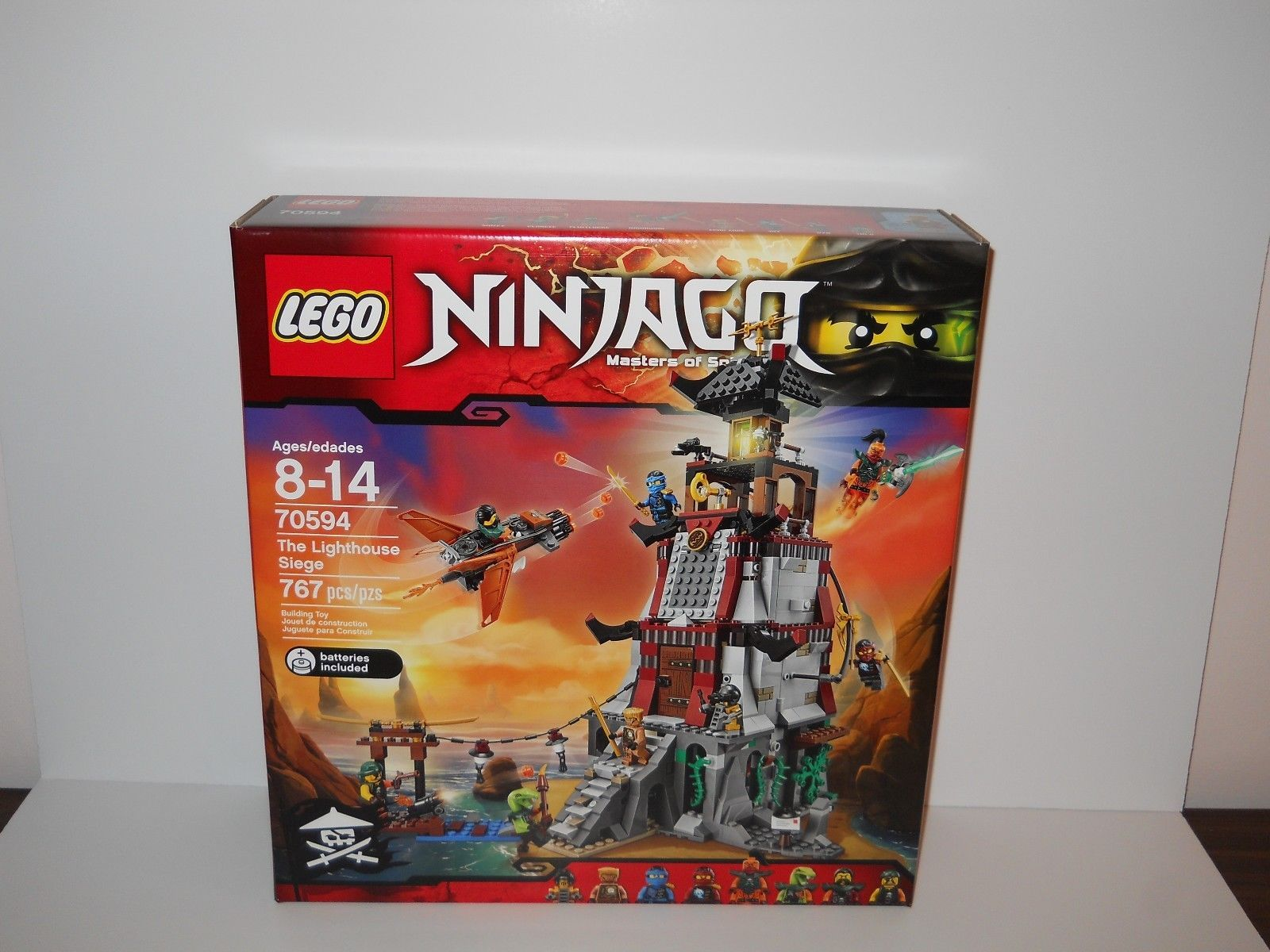 Lego Set Ninjago 70594 The Lighthouse Siege Factory Sealed New In 70596 Samurai X Cave Chaos Box