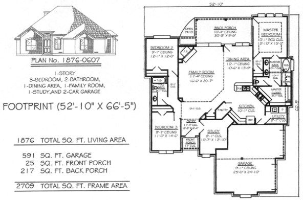 1701 2200 Sq Feet 3 Bedroom House Plans rama collection
