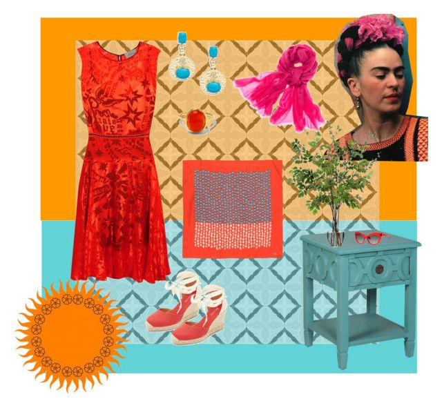 """""""FRIDA"""" by paperdollsq ❤ liked on Polyvore featuring FRIDA, Preen, Soludos, R.J. Graziano, Chico's, Christian Dior, Diane James, Kate Spade and Monica Vinader"""