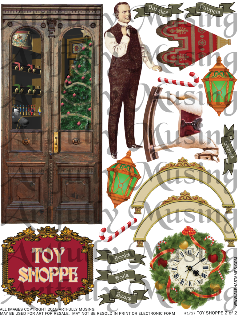 Kunstig Musing: VICTORIAN TOY SHOPPE TUTORIAL - NEW COLLAGE SHEETS - gratis bladmuziek & IMAGES