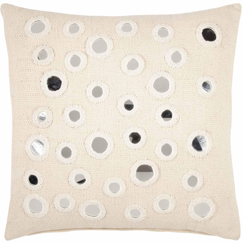 John Robshaw Sheesha Ivory Mirrored Decorative Pillow