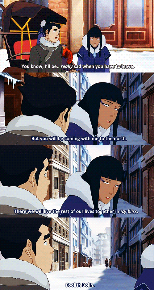 Bolin and Eska. These are the best part of the new season so far! Lol :D