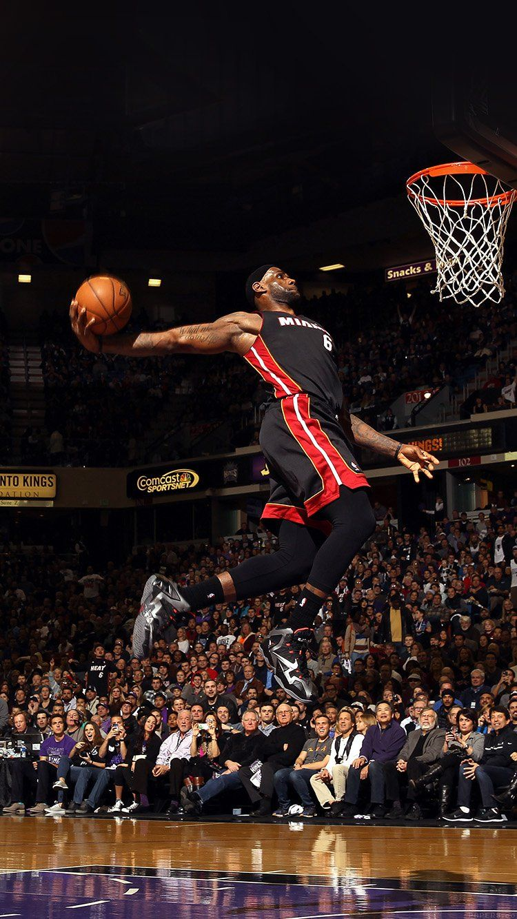 Lebron James Dunk Nba Sports Art Basketball Wallpaper Hd Iphone Lebron James Dunking Lebron James Wallpapers Lebron James Miami Heat