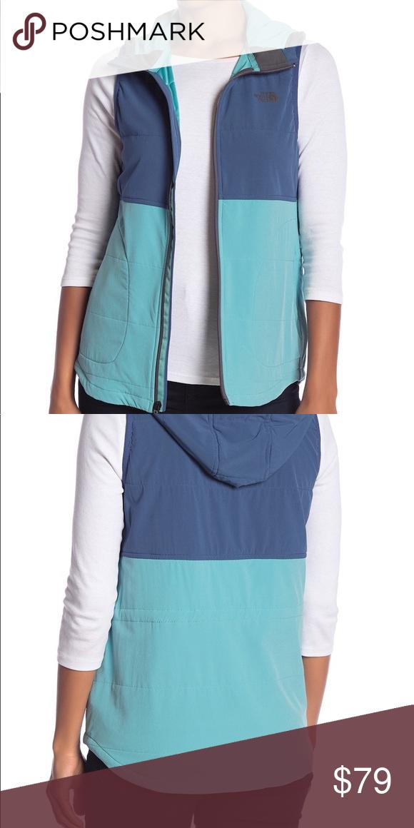 7254f5dd205a The North Face Mountain Sweatshirt Vest Attached hood - Sleeveless - Side  slit pockets - Zipper