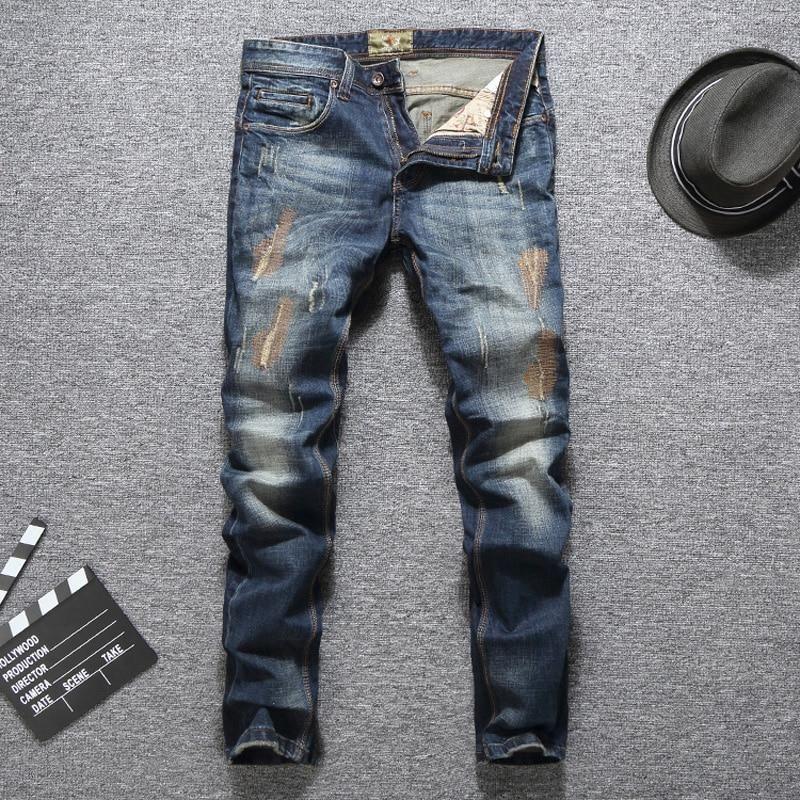 Italian Vintage Designer Men Jeans Slim Fit Mens Designer Jeans Mens Jeans Slim Ripped Jeans Men