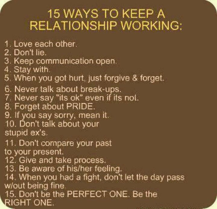 15 ways to keep a relationship going