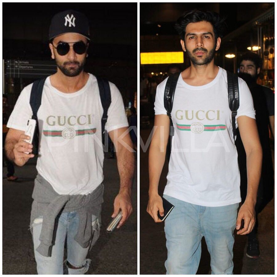 1c7fc913 Fashion Faceoff- Ranbir Kapoor or Kartik Aaryan, who wore the Gucci t-shirt  better? @pinkvilla . . #ranbirkapoor #kartikaryan #gucci…