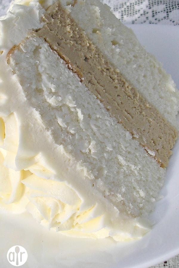 White Almond Wedding Cake Love this recipe This has