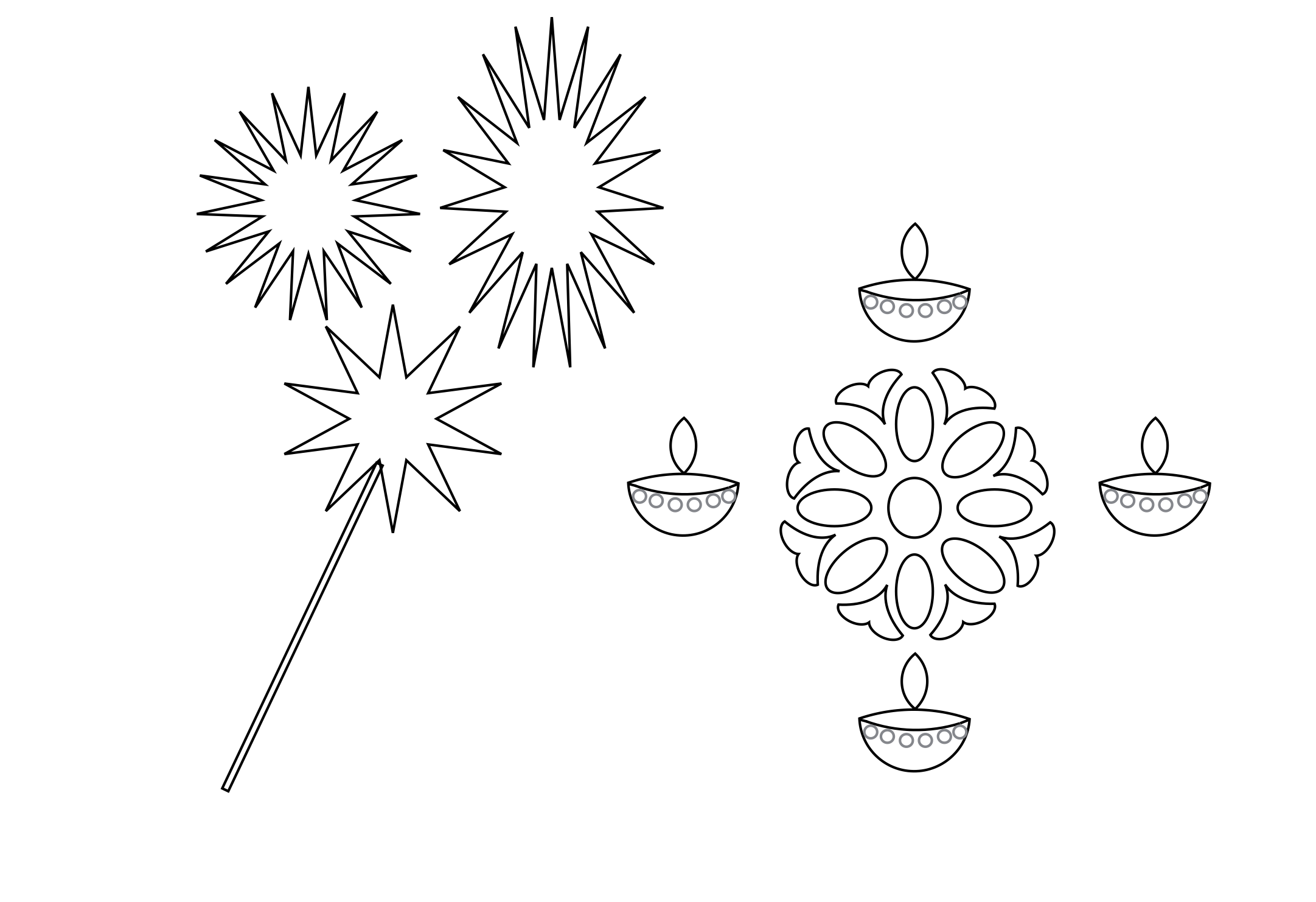 Diwali Coloring Pages Download | diwali coloring pages | Pinterest ...
