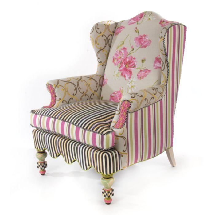 Mackenzie Childs Summerhouse Wing Chair House Stuff