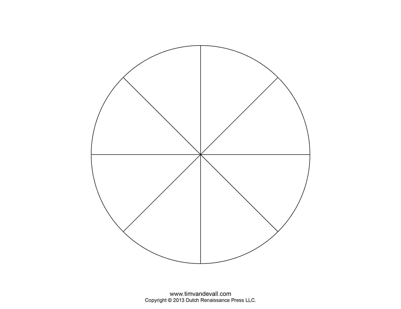 8 Piece Pie Chart