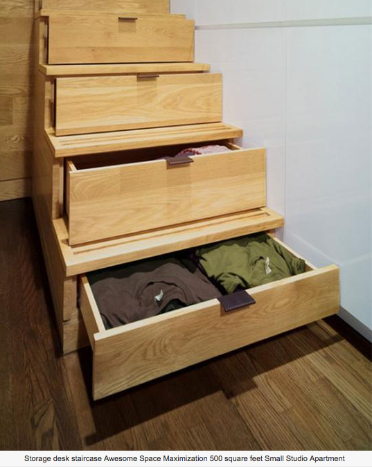 Staircase Full Of Drawers. Clever Use Of Space!
