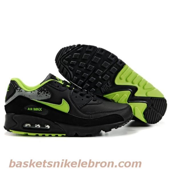 pretty nice e359b f3cde ... coupon code for air max homme hommes nike noir vert air max 90  chaussures f8b01 dfd21