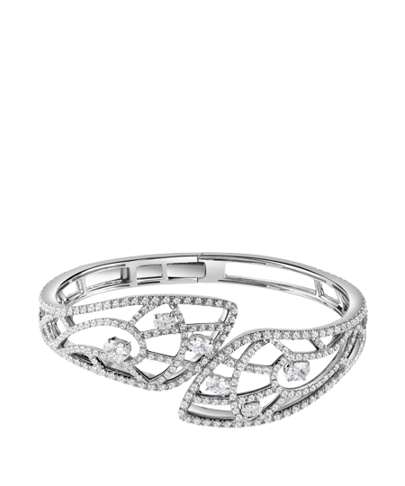 white gold and diamond bracelet by DAMIANI