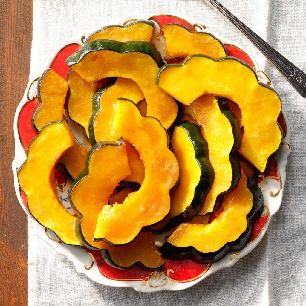 Candied Acorn Squash Slices Recipe In 2020 Acorn Squash