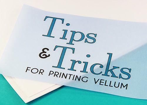 photograph regarding Printable Vellum Paper titled Printing upon Vellum: Strategies  Trending Translucent Vellum