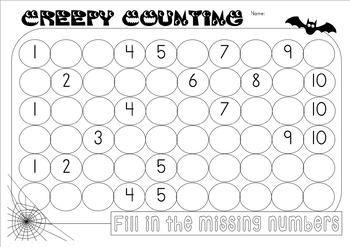 {Counting 1-120} (number practice} {HALLOWEEN ACTIVITIES