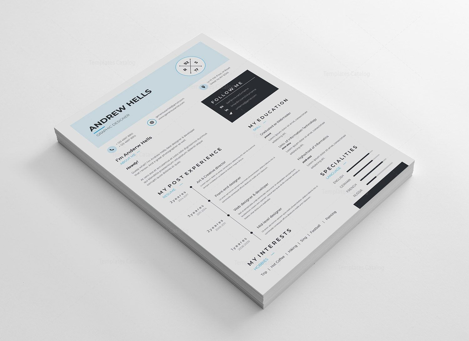 A4 Minimalist Resume Template 002978 - Minimalist resume, Minimalist resume template, Resume design template, Resume template, Clean resume template, Resume - A4 Minimalist Resume Template  The perfect way to make the best impression  Strong typographic structure and very easy to use and customize  The resume template