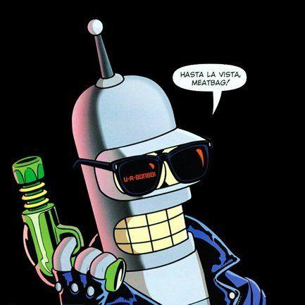 Futurama Bender Terminator Personajes Animados