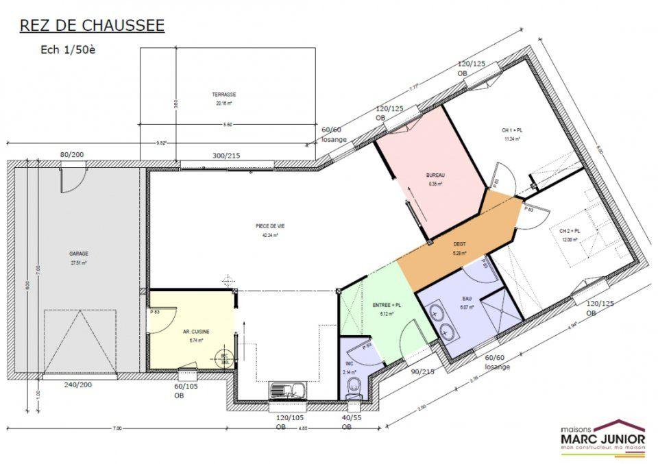 Plan De Maison Plein Pied En V  Plans Maisons    Maison