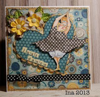 Art Impressions: Golden Oldies:Dotty (Sku#U2778)  Handmade dance card.