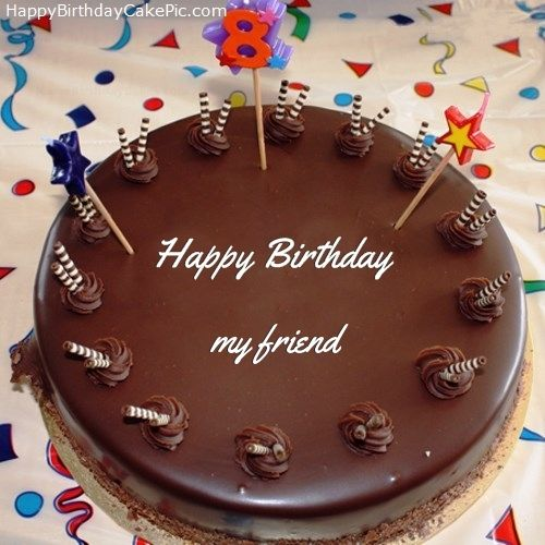 Prime 8Th Chocolate Happy Birthday Cake For My Friend Funny Birthday Cards Online Necthendildamsfinfo