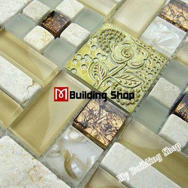 Find More Mosaics Information about Glass stone mosaic tile backsplash RNMT030…