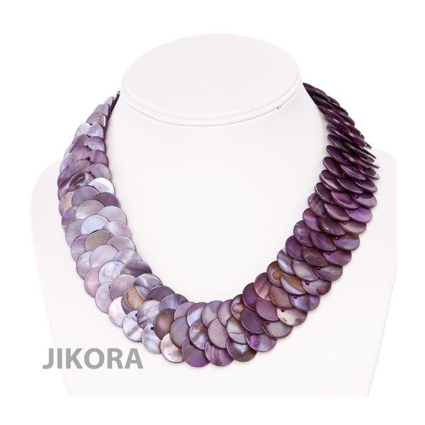 ALYSSA:nMother of Pearl Collar Necklace by Jikora via DaWanda