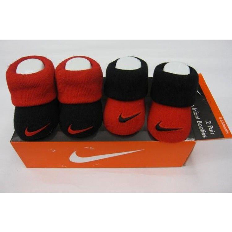 Nike Newborn Baby Jordan's Booties Box Set - Red And Black
