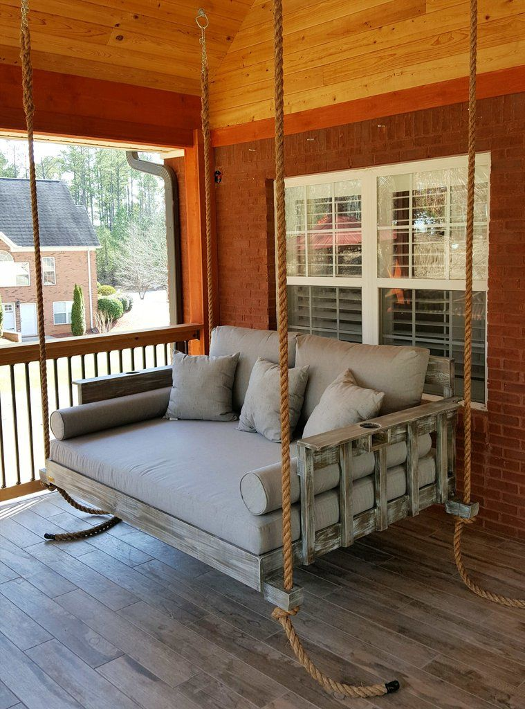 The All American Bed Swing In 2019 Farmhouse Porch Swings Porch