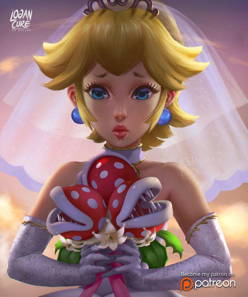 Wedding Princess Peach by logancure.deviantart.com on @DeviantArt ...