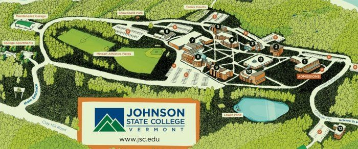 Cus Map Life At Jsc Pinterest Liberal Arts College: Johnson State College Map At Codeve.org