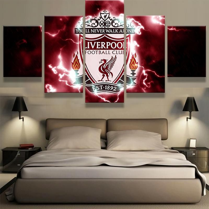 Liverpool You Ll Never Walk Alone Hq 5 Piece Art Canvas Dallas Cowboys Room Dallas Cowboys Bedroom Dallas Cowboys Decor