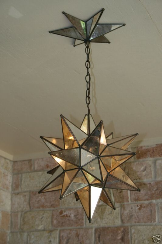 Moravian Star Mirror and Metal Canopy. Canopy LightsStar PendantPendant ... - Moravian Star Mirror And Metal Canopy Metal Canopy, Canopy And