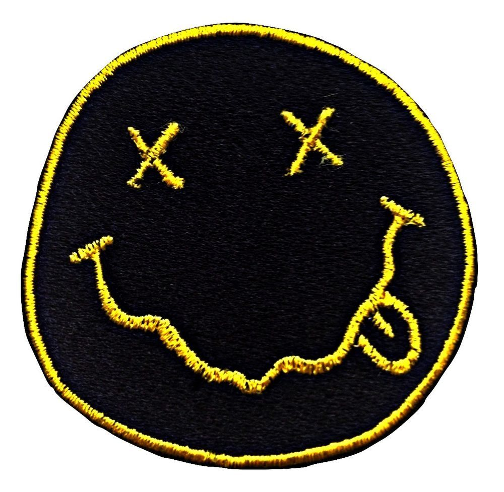 Nirvana Logo Patch Embroidered Iron On Patches Rock Jacket Badge Jeans Applique