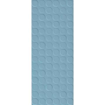 Carrelage mural décor Loft dot en faïence, bleu baltique n°3, 20 x 50.2 cm