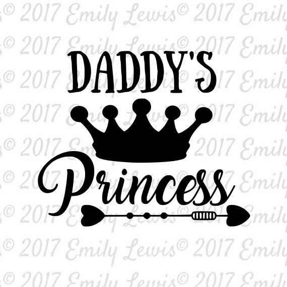 Daddys Princesvs SVG Princess Svg Dad Onesi
