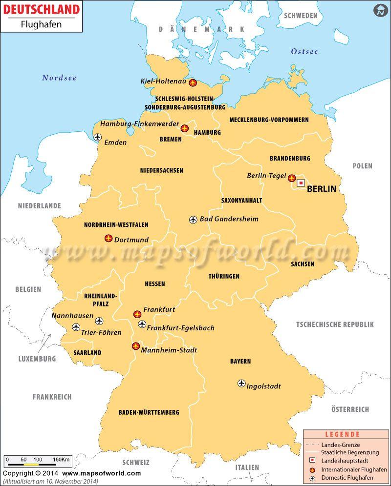 Flughäfen Deutschland Karte.Deutschland Flughäfen Karte Deutschland Deutschland Flughafen