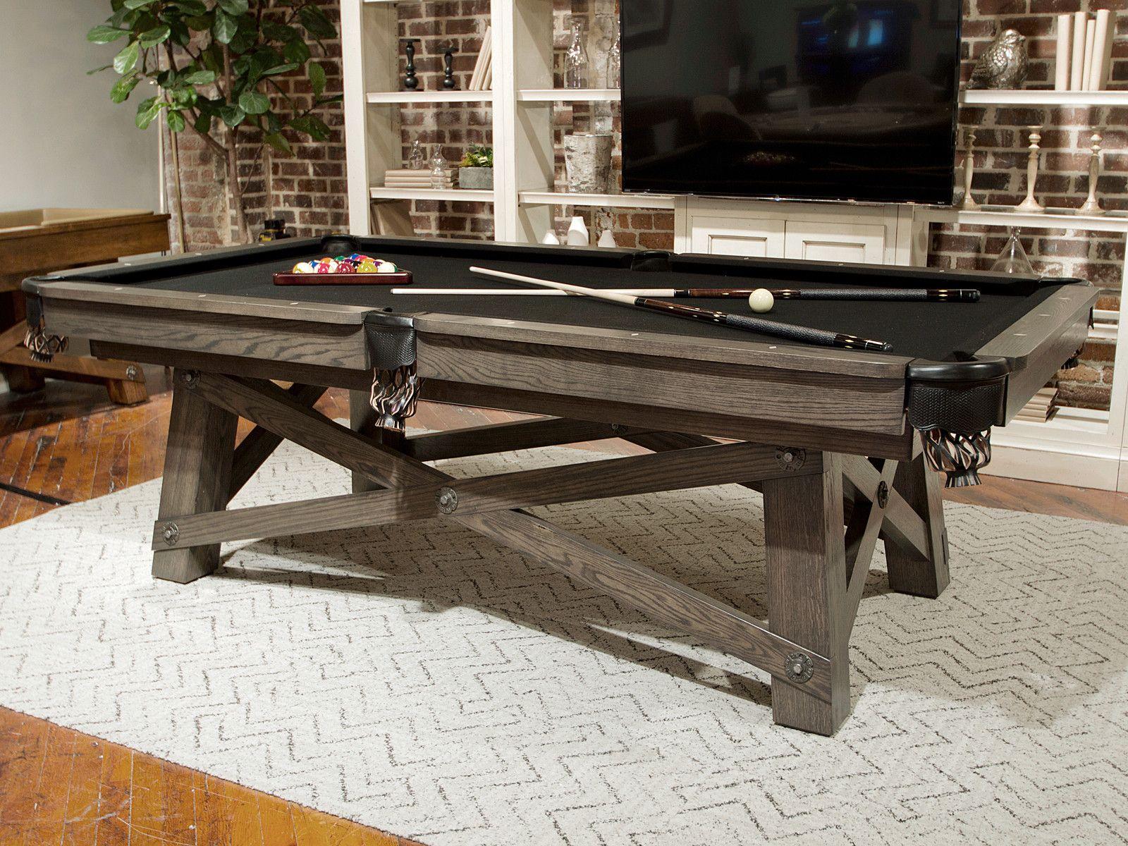 California House Loft Pool Table Pool Table Pool Table Room Shuffleboard Table