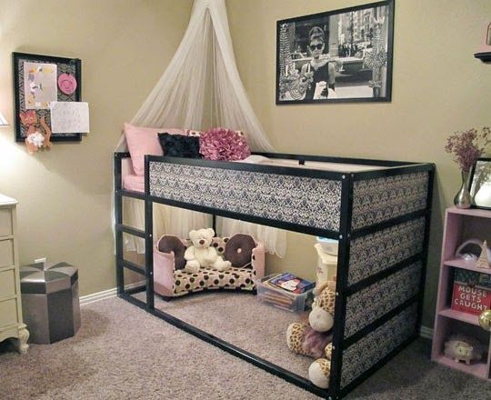 loulou gatou 15 fa ons de customiser votre lit kura de ikea chambre d 39 enfant pinterest. Black Bedroom Furniture Sets. Home Design Ideas